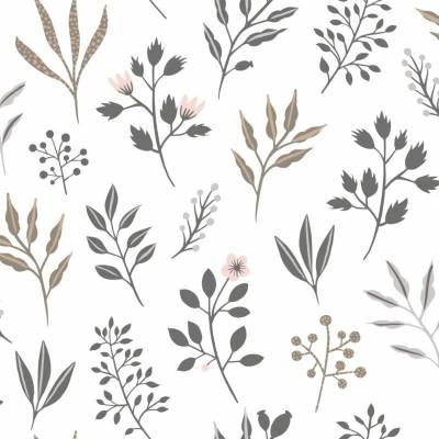 Rasch Textil Scandi Cool | 039081 | Vliestapete Naturoptik | 0.53 m x 10.05 m | Weiß