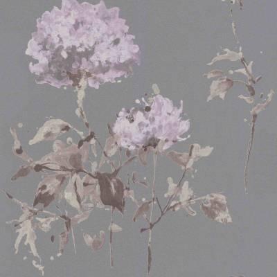 Rasch Cato | 801538 | Vliestapete Blumen | 0.53 m x 10.05 m | Braun