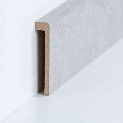 Abdeckleiste für Fliesensockel bis 85 mm (MDF foliert / 72.96.13.85.49) - Farbe: Beton (Default) 2t2t4wegew