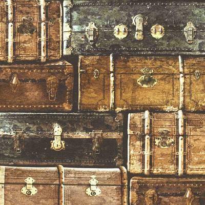 A.S. Creation Simply Decor | 339832 | Papiertapete Vintage | 0.53 m x 10.05 m | Braun