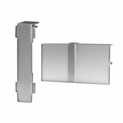 Klick Verbinder für Fußleisten / Sockelleisten 6 x 15 (Aluminium silber eloxiert)