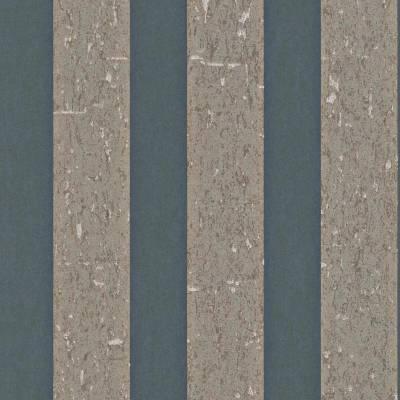 Rasch Textil Indigo   226682   Vliestapete Streifen   0.53 m x 10.05 m   Grau