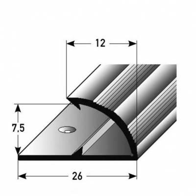 """Klemmprofil / Einfassprofil """"Limerick"""" für Laminat, 7,5 mm Einfasshöhe, Aluminium eloxiert, gebohrt"""
