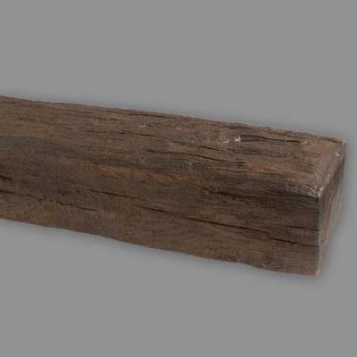 Wiesemann PU-Balken | aus hochfestem Polyurethan | 12 x 12 x 200 cm | Dunkelbraun | realistisch
