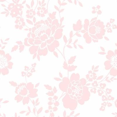 Rasch Textil Kingsly | 072051 | Vliestapete Blumenoptik | 0.53 m x 10.05 m | Rosa