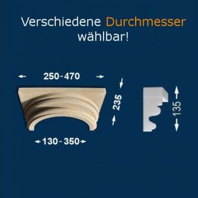 """Säulenkapitell """"Wiesemann SK1-b"""", Durchmesser 13 - 35 mm, wetterfest Beschichtet-13 mm (Default)"""