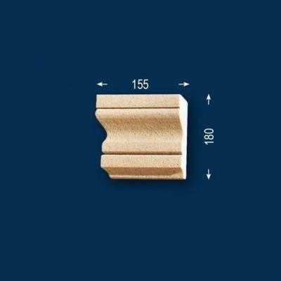 """Fassadenstuck / Fassadenelement """"FP23-b Endstück links"""" - beschichtet"""