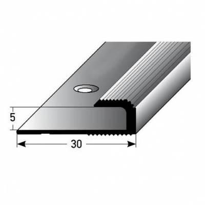 """Einfassprofil """"Cavan"""" für Laminat, 5 mm Einfasshöhe, Aluminium eloxiert, gebohrt"""