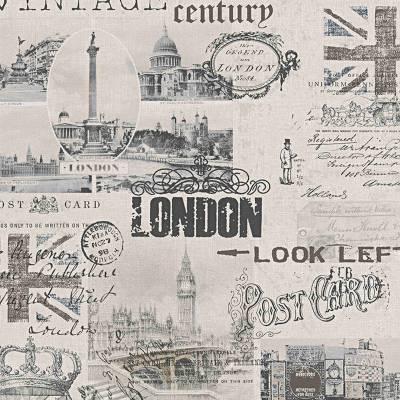 A.S. Creation Einzelblatt   952052   Papiertapete Vintage   0.53 m x 10.05 m   Beige
