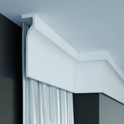 Stuckleiste | Deckenleiste | 130 mm x 50 mm | Polyurethan | P891 | wasserfest | Lichtleiste