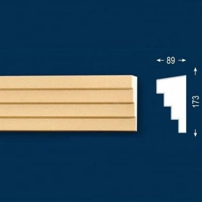 """Fassadenstuck / Fassadenelement """"FP33-b Endstück links"""" - beschichtet"""