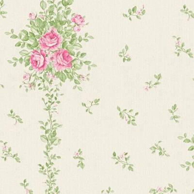A.S. Creation Château 5 | 345002 | Vliestapete Blumen | 0.53 m x 10.05 m | Creme