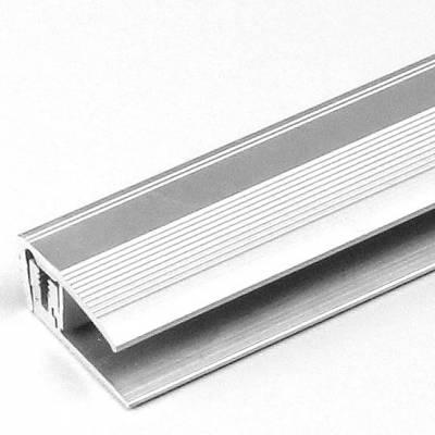 "Abschlussprofil / Abschlussleiste Laminat ""Trenton"", H 7 - 17 mm, B 24 mm, Aluminium eloxiert, Flex"