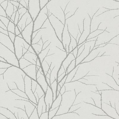 Rasch Selection   455922   Vliestapete Blumentapete   0.53 m x 10.05 m   Silber