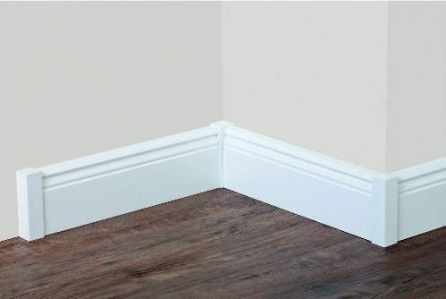 Holz Sockelleiste Weiß universal holzecken 15 x 15 x 112 innen außen für sockelleisten