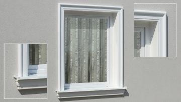 fassadenprofile fassadenelemente und fassadenstuck f r. Black Bedroom Furniture Sets. Home Design Ideas