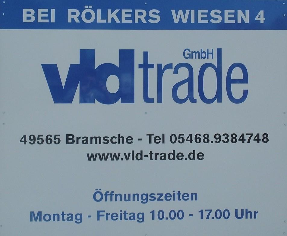 Adresse Schild VLD Trade Bramsche Engter 1