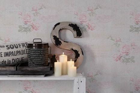Vintage Blumentapete
