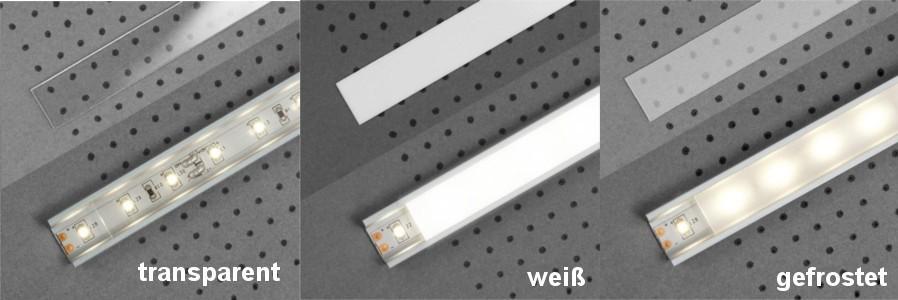 Abdeckungen für LED-Profile